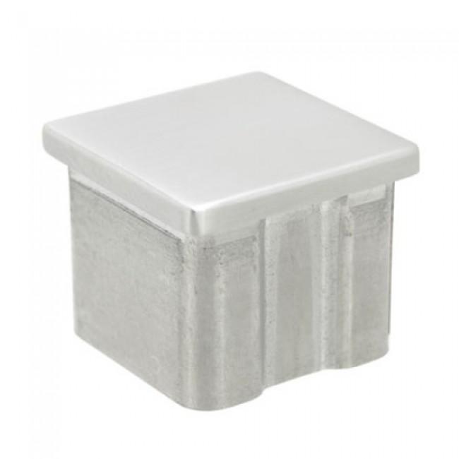 Embout plat - pour tube main courante carré - 40 x 40 mm - inox Design Production