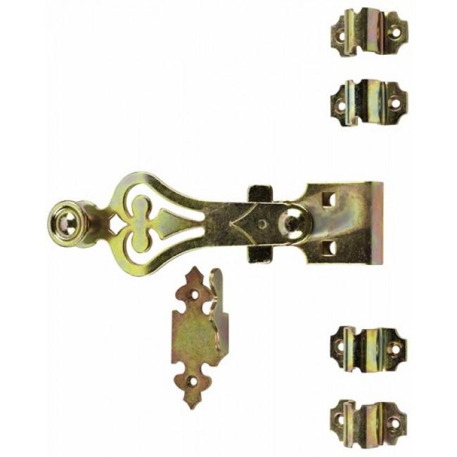 Accessoires espagnolette ronde en acier zingué