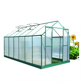 Serre de jardin polycarbonate 6 mm 12,81 m2 SR4330 HABRITA