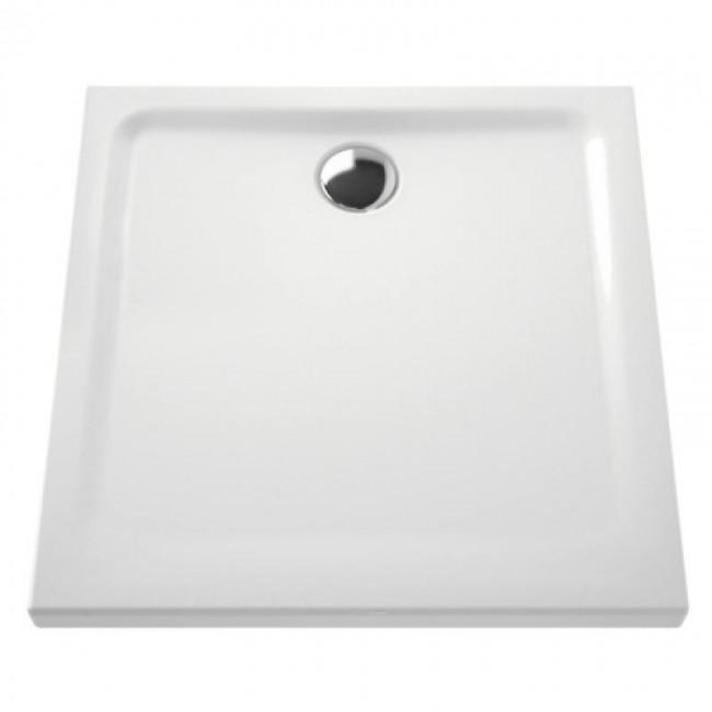 Receveur à poser extra-plat en céramique - 90x90 cm VITRA