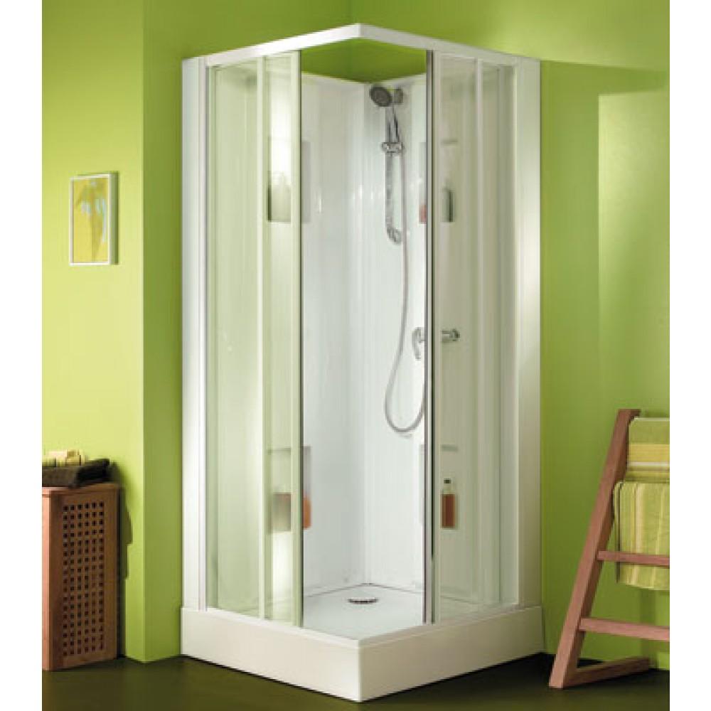cabine de douche 90 x 90 cm acc s d 39 angle par portes