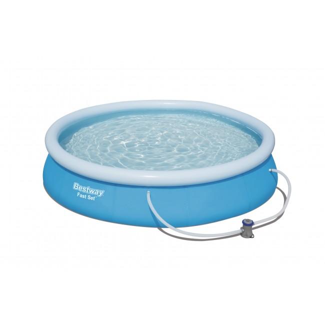 Piscine autoportée ronde - 366x76cm - Fast Set Pools + Accessoires BESTWAY