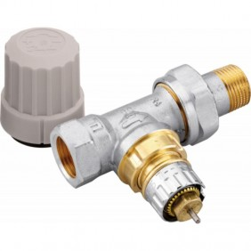 Robinet thermostatisable droit avec préréglage - RA-IN 15 - filetage 15x21 DANFOSS