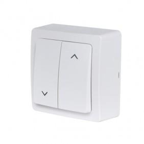 Interrupteur volet roulant saillie complet - blanc - Blok DEBFLEX