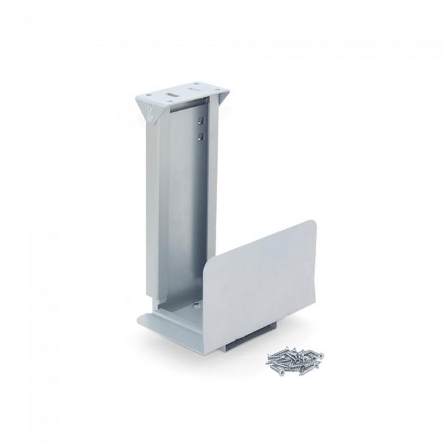 Support pour unité centrale CPU - acier finition aluminium peint EMUCA
