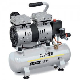 Compresseur d'air silencieux 6L 0.75HP MECAFER
