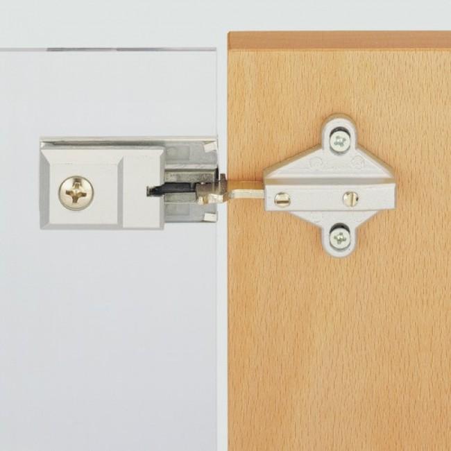charni re pour portes en verre perc gt 6000 hettich bricozor. Black Bedroom Furniture Sets. Home Design Ideas