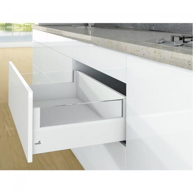 Kit tiroir DesignSide ArciTech-profil H126-dos H218-blanc HETTICH