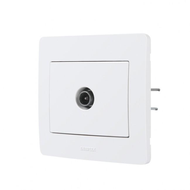 Prise TV encastrée complète - blanc - Diam2 DEBFLEX