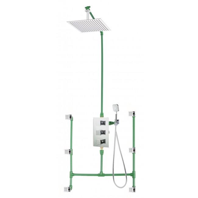 Colonne de douche encastrable plafond LOCK avec mitigeur VIGONE SARODIS
