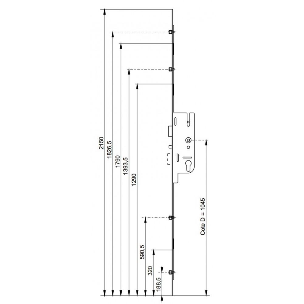 serrure larder 4 galets fermeture automatique gu fercomatic ferco bricozor. Black Bedroom Furniture Sets. Home Design Ideas