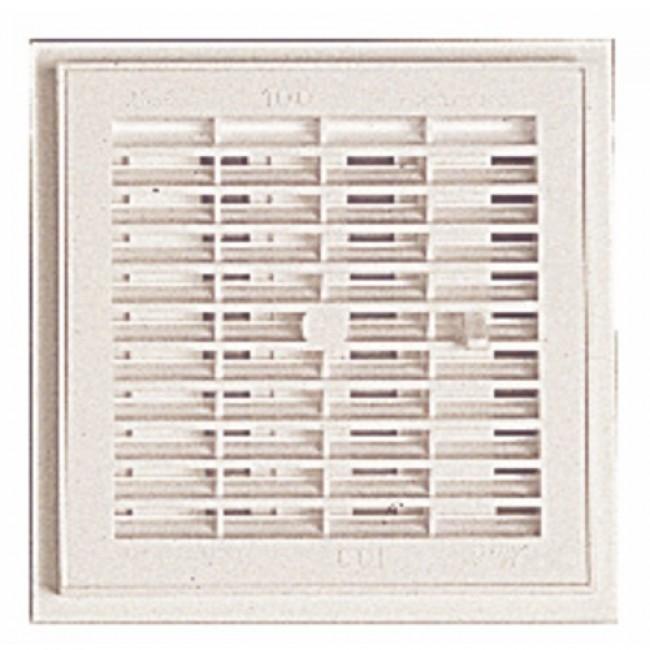 Grille d'aération intérieure à fermeture, 185x185mm, 106cm2 NICOLL