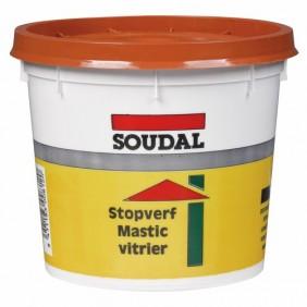 Mastic vitrier à l'huile de lin couleur acajou SOUDAL