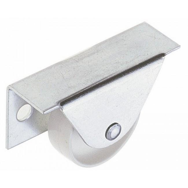 Roulette fixe pour meuble - blanc LUDMANN