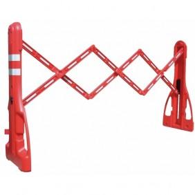Barrière de chantier extensible 230 cm en plastique rouge VISO