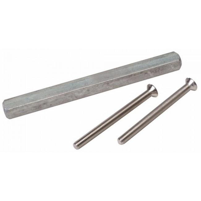 Tige carrée pour poignées avec piliers taraudés BRICOZOR