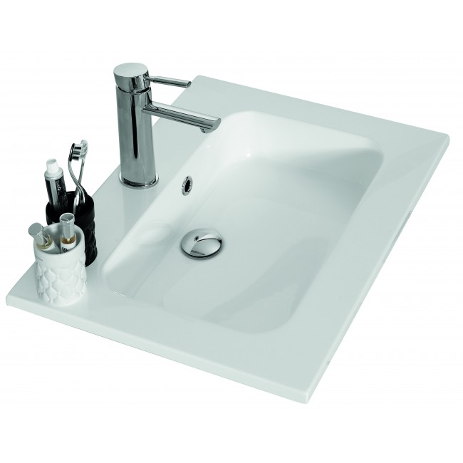 Plan vasque en résine blanc - 60 cm - Angelo Néova