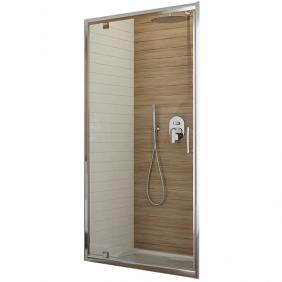 Porte de douche - Pivotante -80/90 et 100cm - Verre transparent - Tyxo LEDA