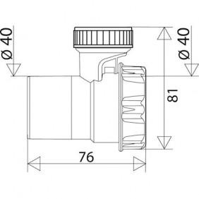 Soupape anti-vide -plastique - blanc Diamètre 40mm VALENTIN