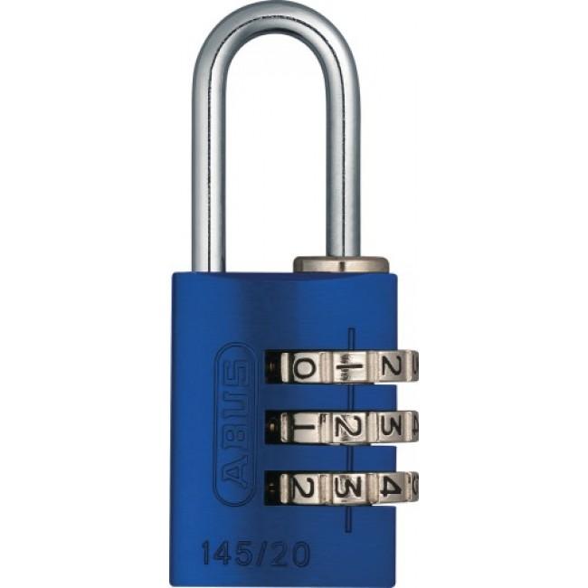 Cadenas à code - 3 molettes - aluminium anodisé couleur - 145 ABUS