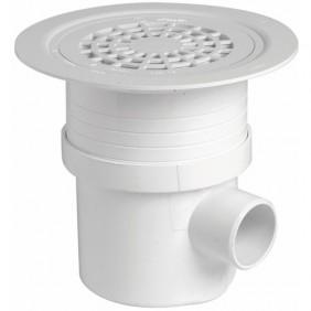 Siphon de sol pvc Docia Système - grille aluminium - diamètre 192 mm NICOLL