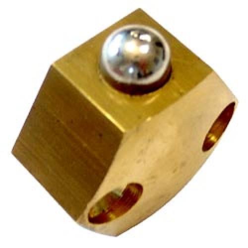 Loqueteau à bille hexagonal H40 en applique