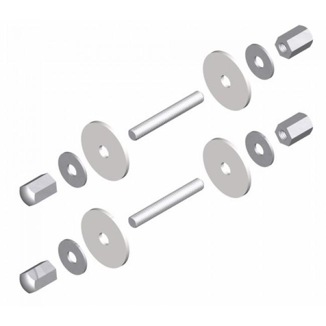 Fixations pour poignée aluminium sur porte verre - Aileron 6821 LA CROISÉE DS