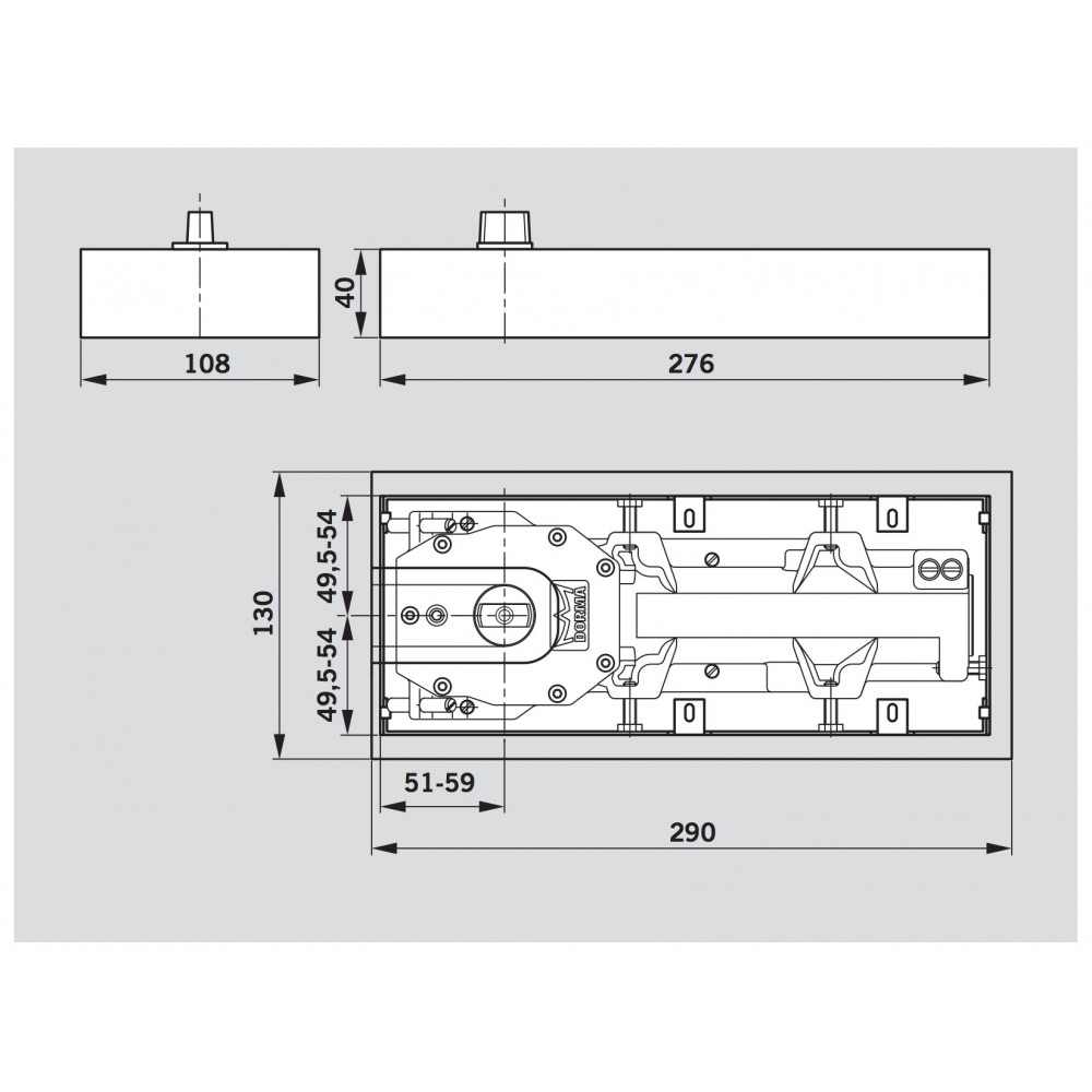 pivot de sol double action bts 65 dorma bricozor. Black Bedroom Furniture Sets. Home Design Ideas