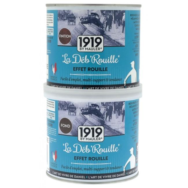 Effet rouille - 500 ml base + 250 ml finition - La Deb'Rouille 1919 by Mauler