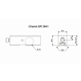 Chariot simple réglable pour coulissant aluminium - type 3841 LA CROISÉE DS