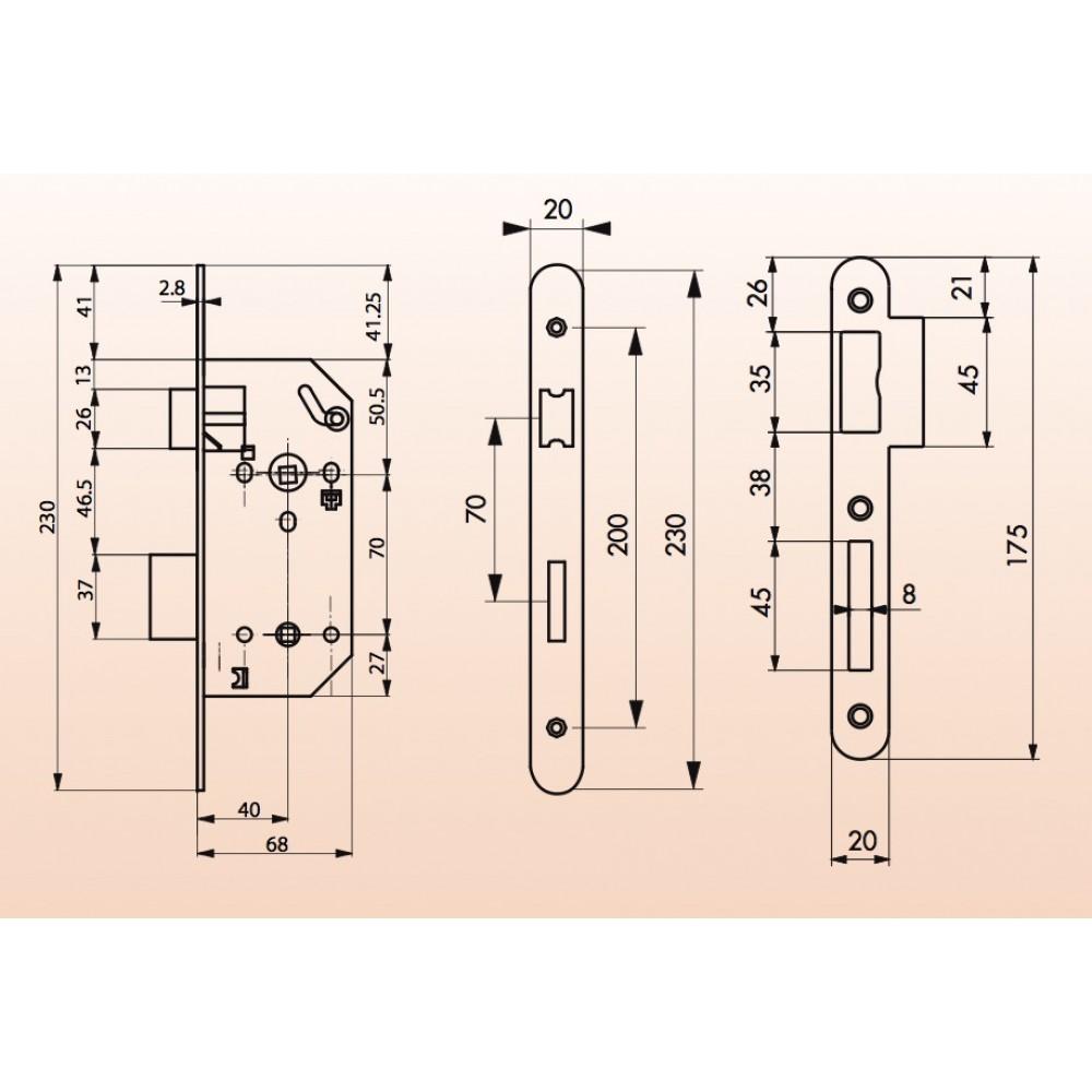 serrure monomax 4681 axe 40mm t ti re inox pour porte wc salle de bains fth thirard bricozor. Black Bedroom Furniture Sets. Home Design Ideas