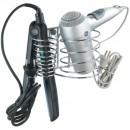 Support sèche cheveux et fer à lisser - Milano - porte câble intégré WENKO