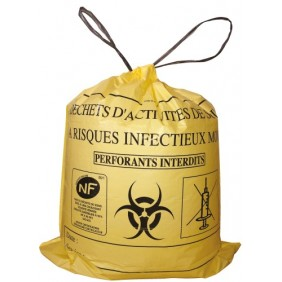 Sacs poubelle pour déchets mous à risques infectieux BRICOZOR