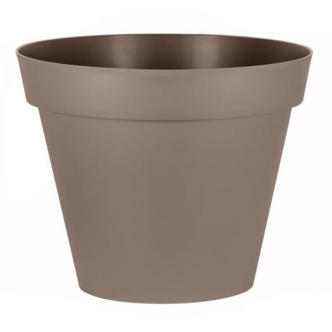Pot rond taupe - diamètre 80 cm  - 170 litres - Toscane 13623 EDA PLASTIQUES