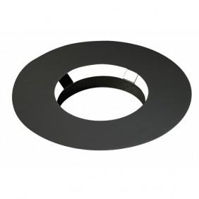 Rosace /émail mat noir Diam/ètre 80mm pour po/êles /à Pellets 343749