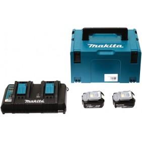 Pack : 2 batteries 18V 5AH et chargeur double DC18RD MAKITA