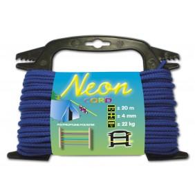 Drisse néon - 20 m x 4 mm - bleu CHAPUIS