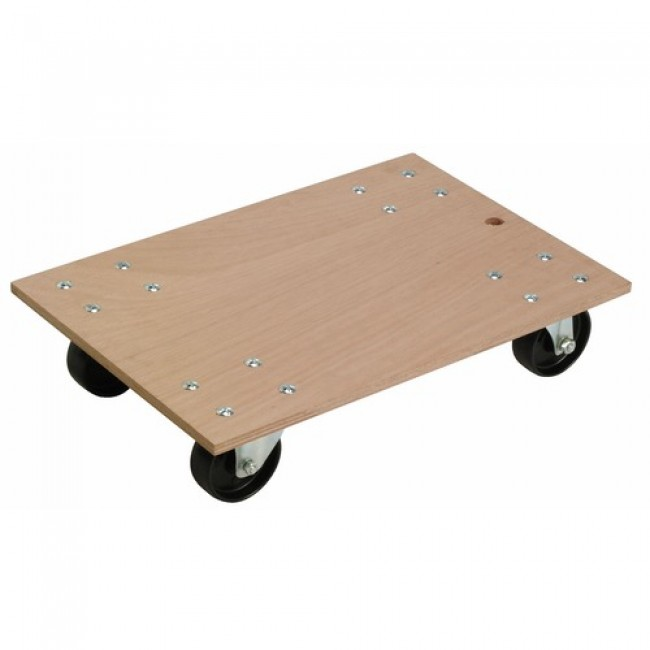 Plateau de manutention roulant en bois, 60 x 40 cm, charge 300 kg FIMM