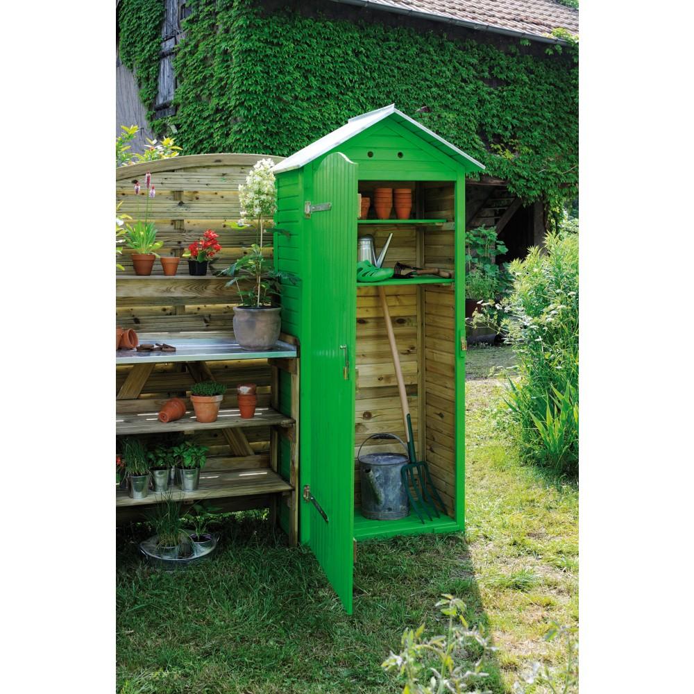 armoire de jardin en bois 90 x 58 cm hauteur 204 cm. Black Bedroom Furniture Sets. Home Design Ideas