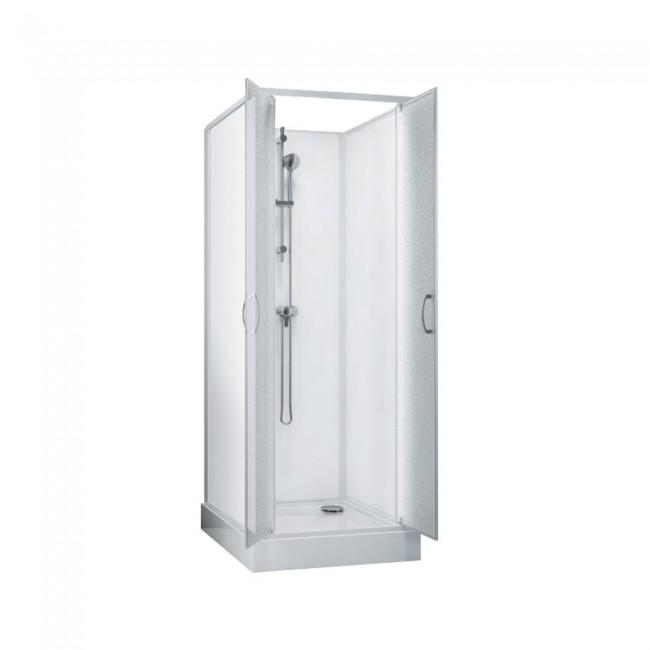 Cabine de douche Surf 5 - 80x80 cm - accès de face - portes battantes LEDA