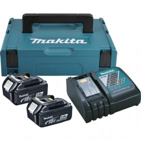 Pack chargeur + 2 batteries lithium-ion 18 V-5 Ah MAKITA