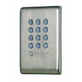 Clavier digicode inox KCIEN/SBP électronique intégrée CDVI