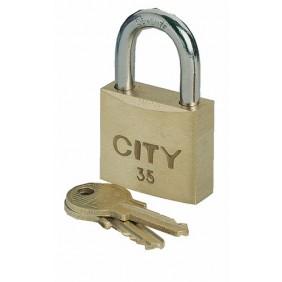 Cadenas à clé - s'entrouvrants - anse acier cémenté - City ISEO