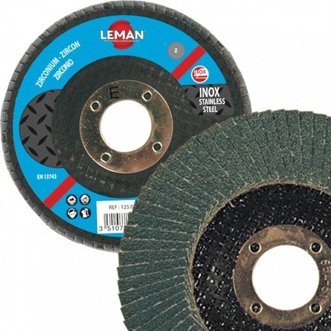 Disque doubles lamelles zirconium - 125x40x22,23 mm - grain 40 LEMAN