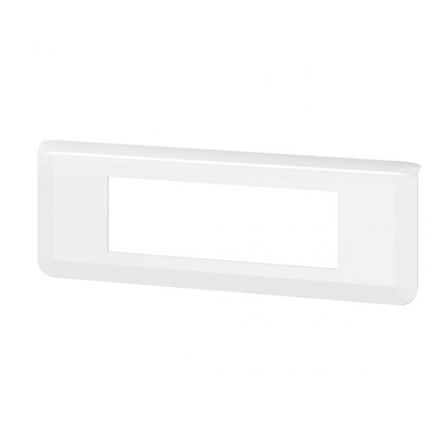 Plaque de finition horizontale Mosaic blanche - 6 modules LEGRAND