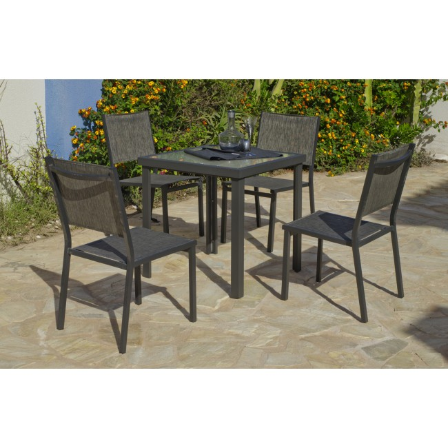 Table de jardin Horizon 707 : 1 table et 4 chaises