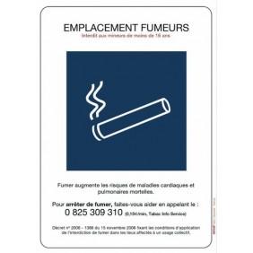 Panneaux de réglementation anti-tabac - emplacement fumeurs NOVAP