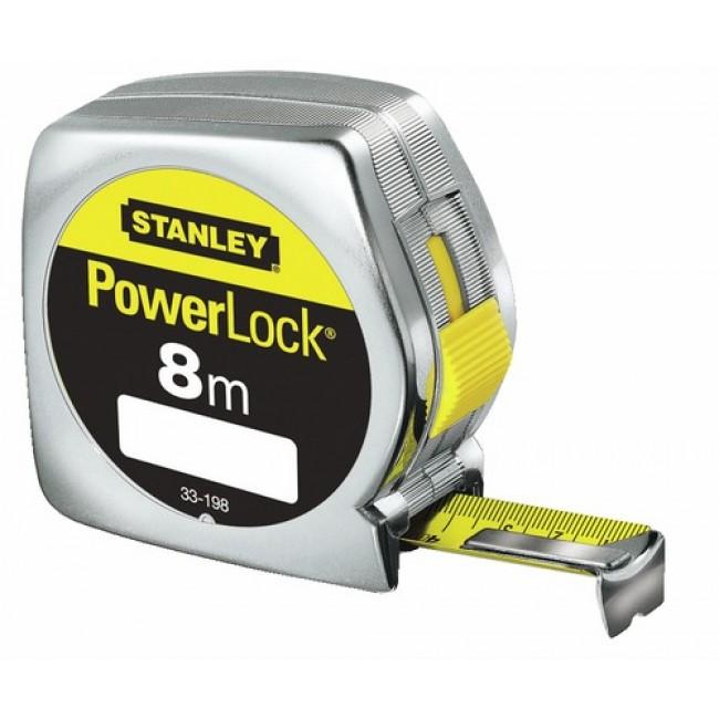 Mètre ruban - blocage et retour automatique du ruban - Powerlock STANLEY