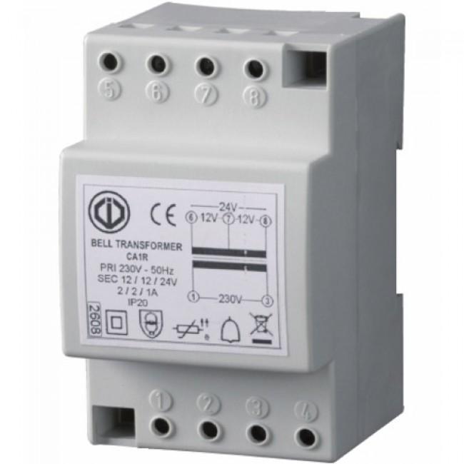 Transformateur 230 V en 12/24 V - pose sur rail DIN - Classe II DIGIT