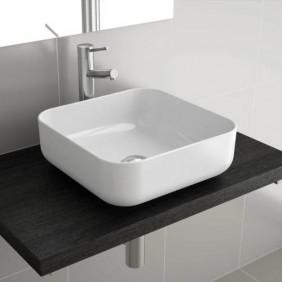 Vasque céramique carrée à poser Dolce 39 x 39 cm SALGAR